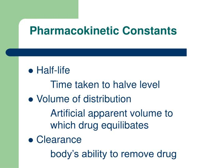 Pharmacokinetic Constants