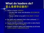 what do leaders do