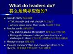 what do leaders do1