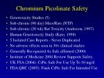 chromium picolinate safety