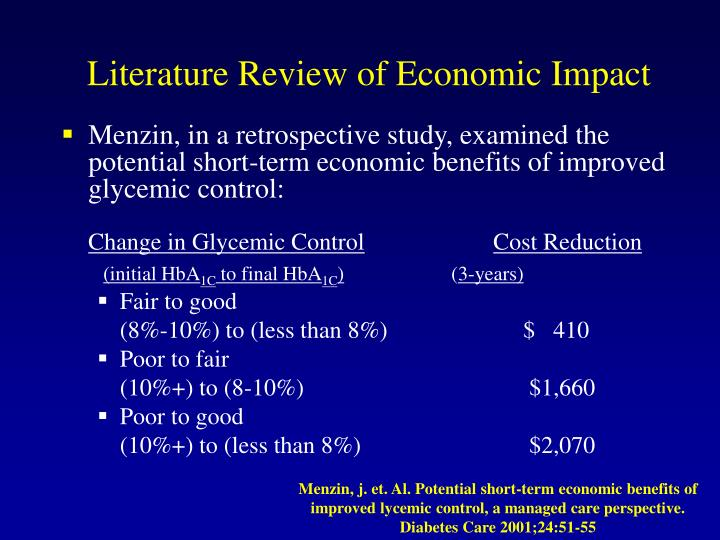 Literature Review of Economic Impact