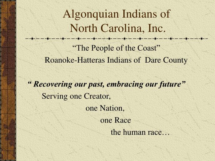 Algonquian Indians of
