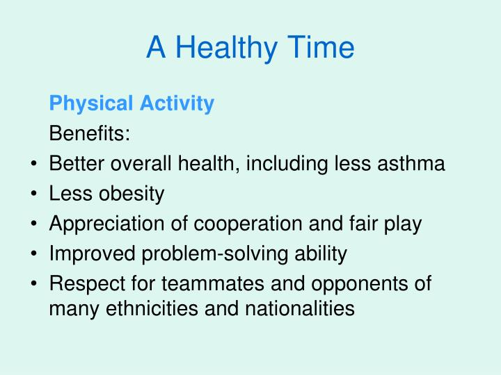 A Healthy Time