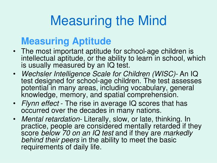 Measuring the Mind