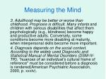 measuring the mind7