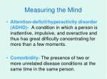 measuring the mind9