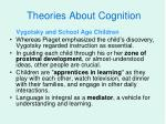 theories about cognition2