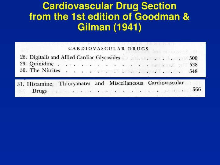 Cardiovascular Drug Section