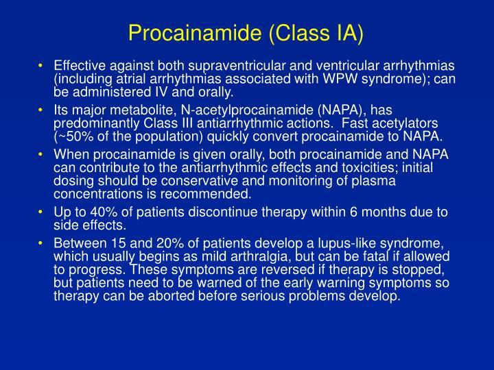 Procainamide (Class IA)