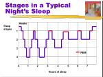 stages in a typical night s sleep