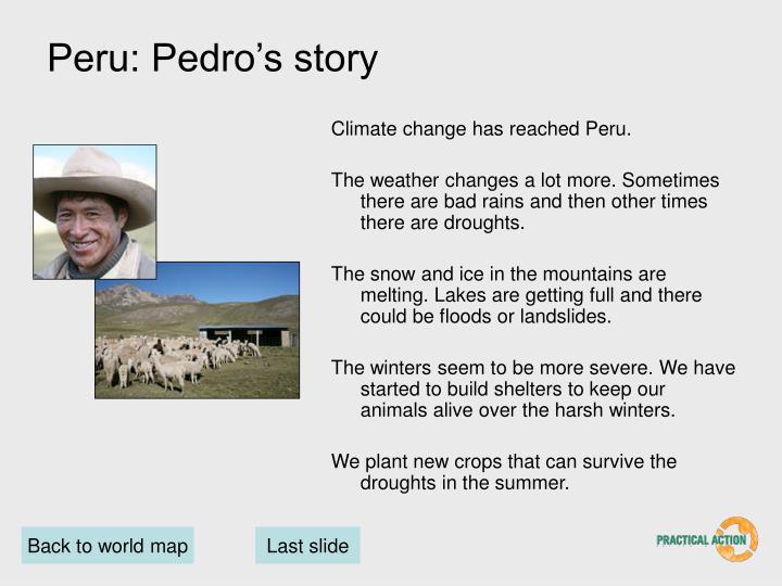 Peru: Pedro's story