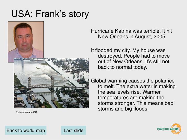 USA: Frank's story