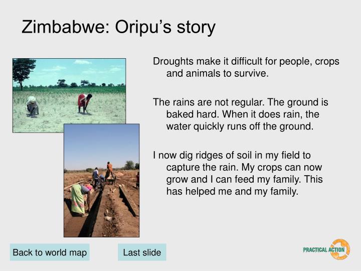 Zimbabwe: Oripu's story