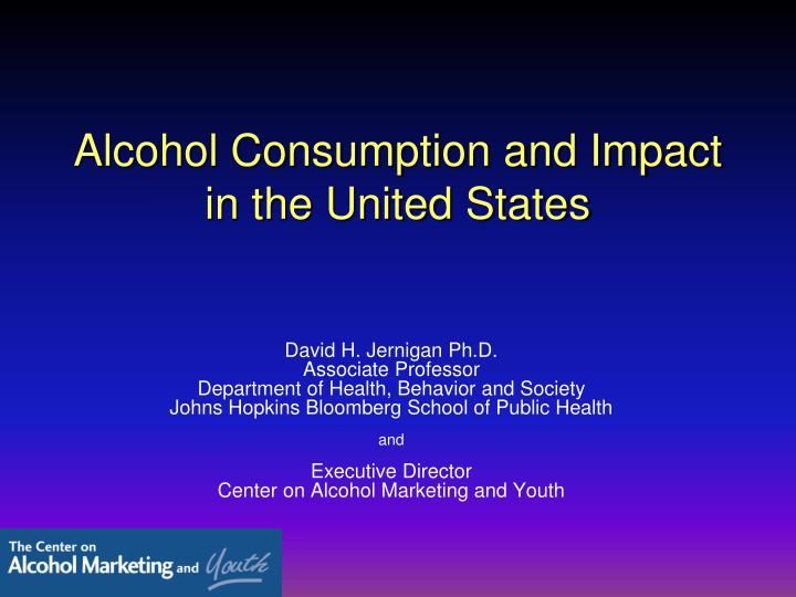 Alcohol consumption and impact in the united states