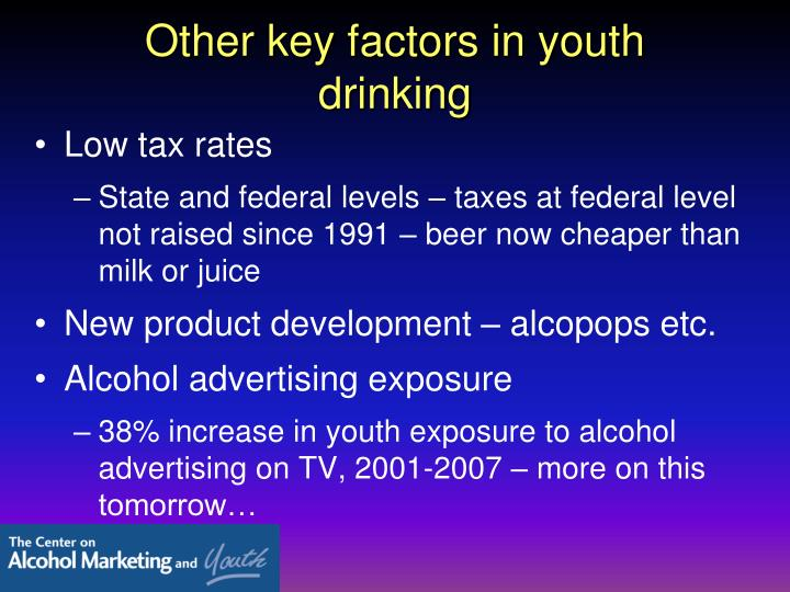 Other key factors in youth drinking