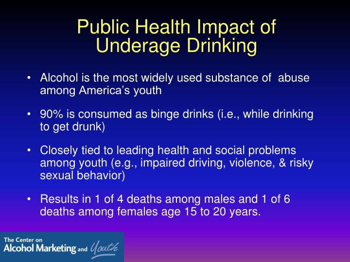 Public Health Impact of Underage Drinking