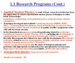 1 1 research programs cont