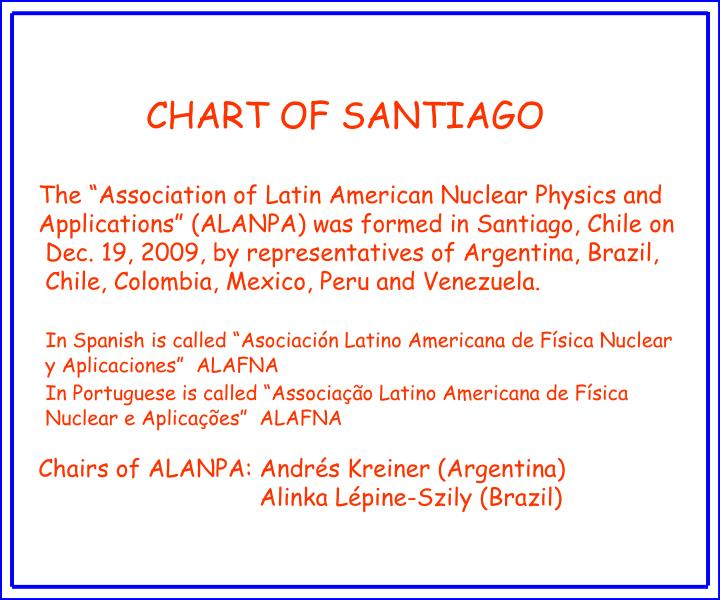 CHART OF SANTIAGO
