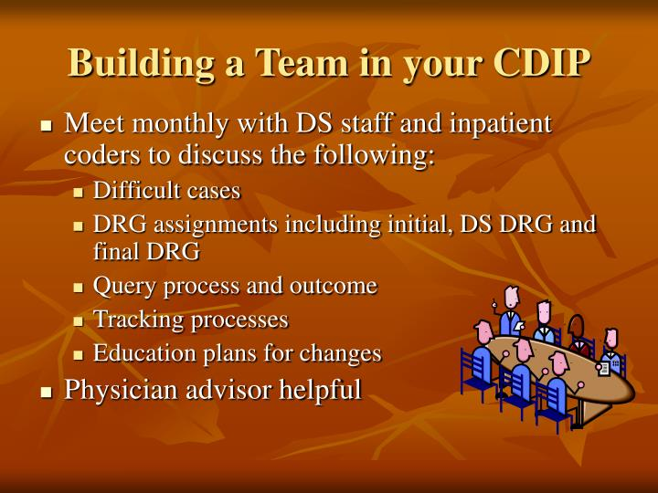 Building a Team in your CDIP