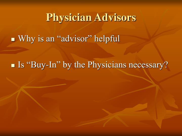 Physician Advisors