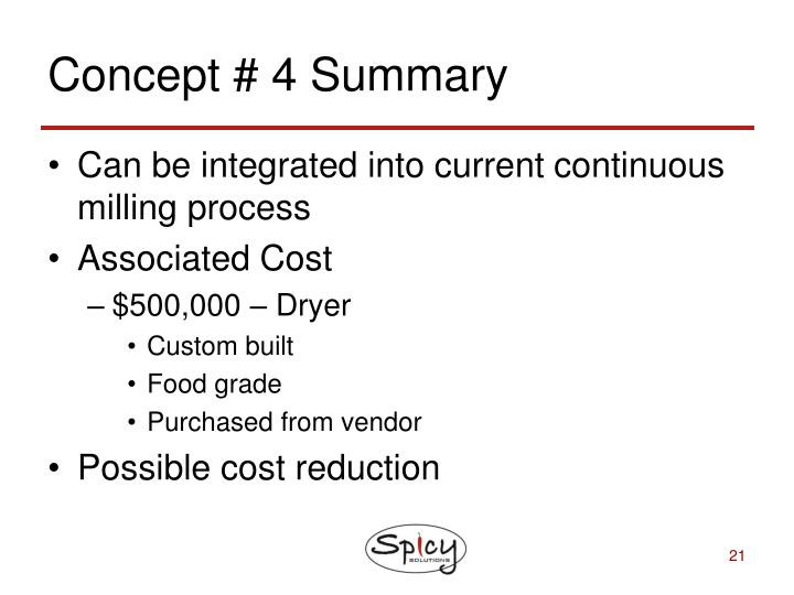 Concept # 4 Summary
