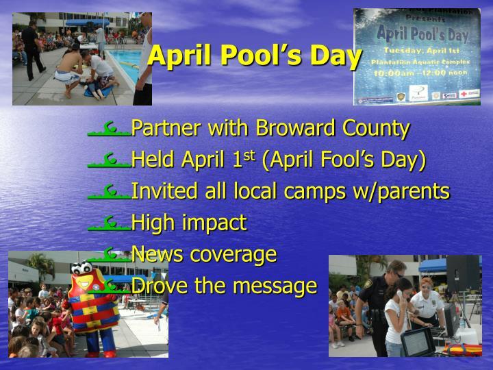 April Pool's Day