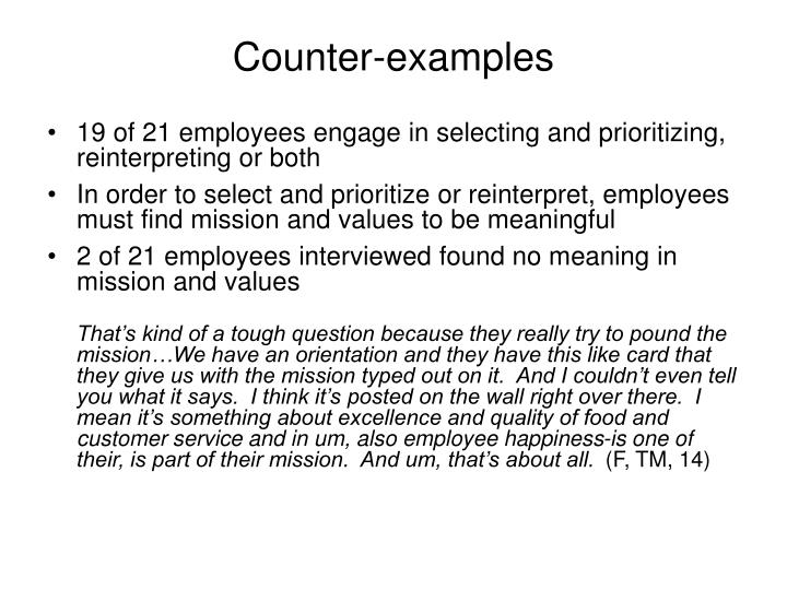 Counter-examples
