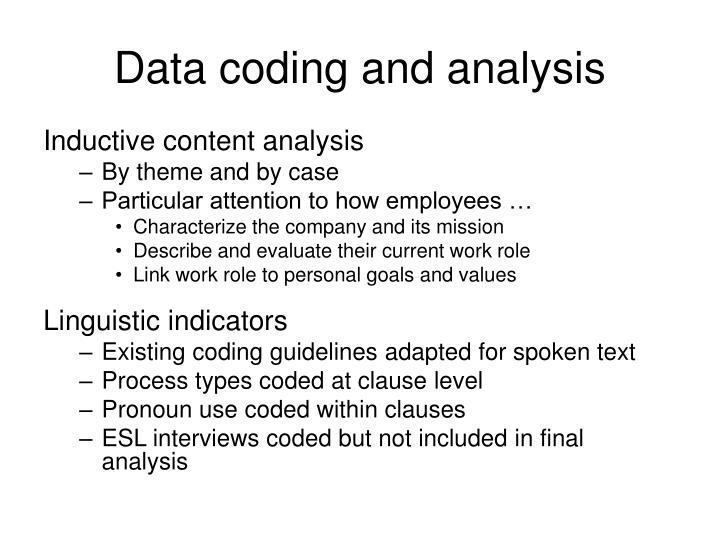 Data coding and analysis