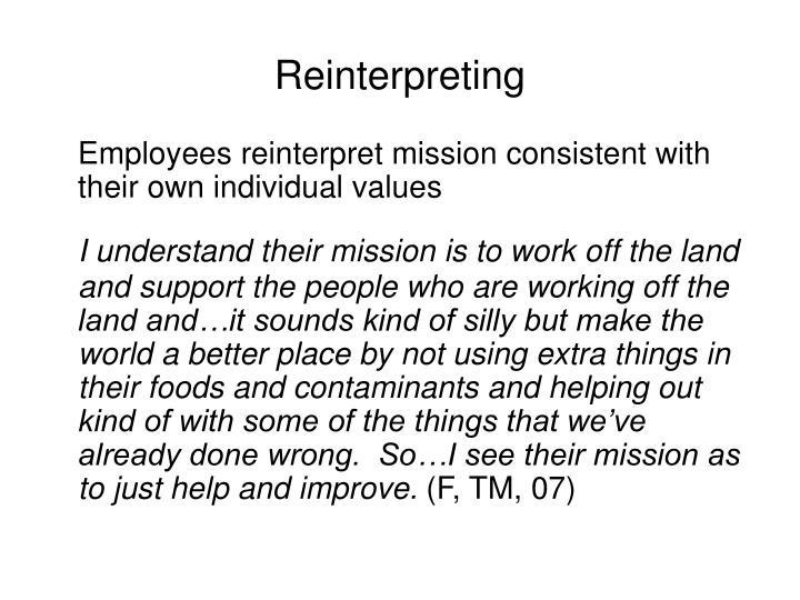Reinterpreting