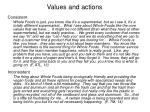 values and actions