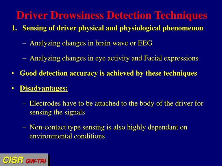 Driver Drowsiness Detection Techniques