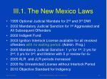 iii 1 the new mexico laws