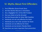 vi myths about first offenders