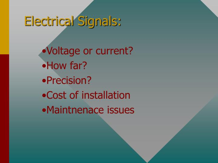 Electrical Signals: