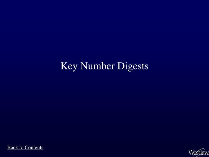 Key Number Digests