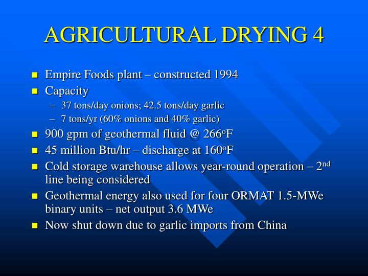 AGRICULTURAL DRYING 4