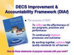decs improvement accountability framework dia f