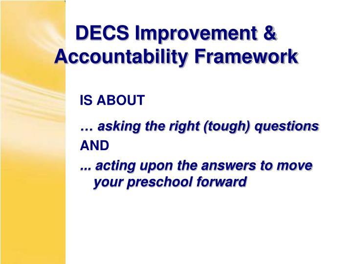 DECS Improvement & Accountability Framework