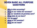 seven basic all purpose questions