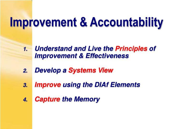 Improvement & Accountability