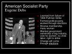 american socialist party eugene debs
