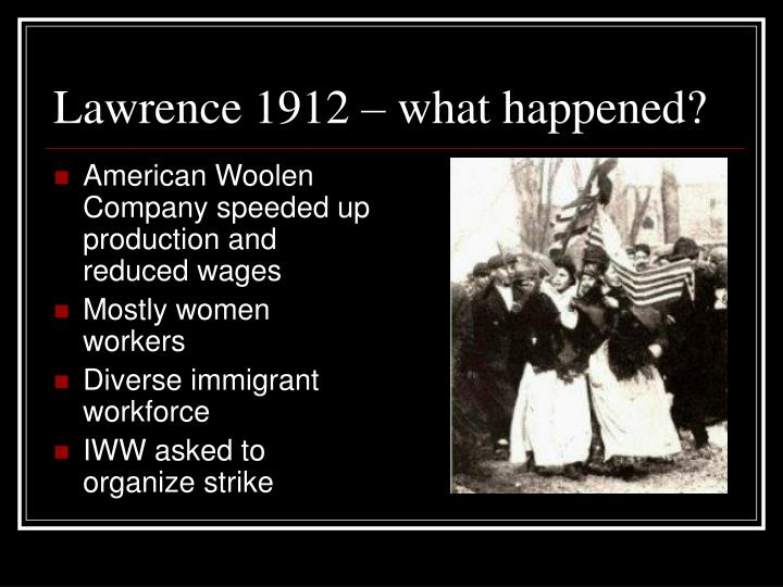 Lawrence 1912 – what happened?