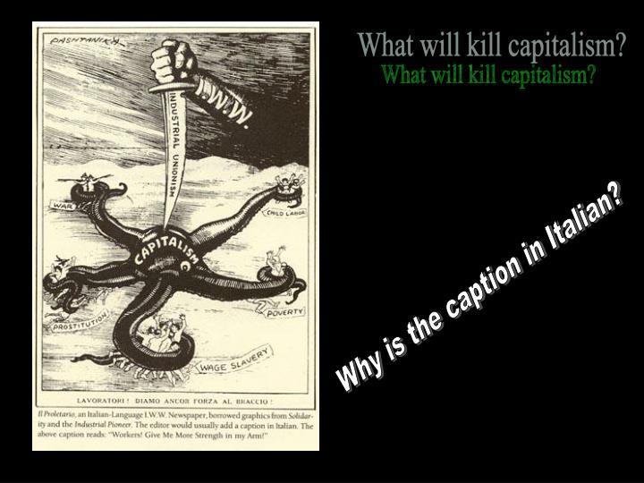 What will kill capitalism?