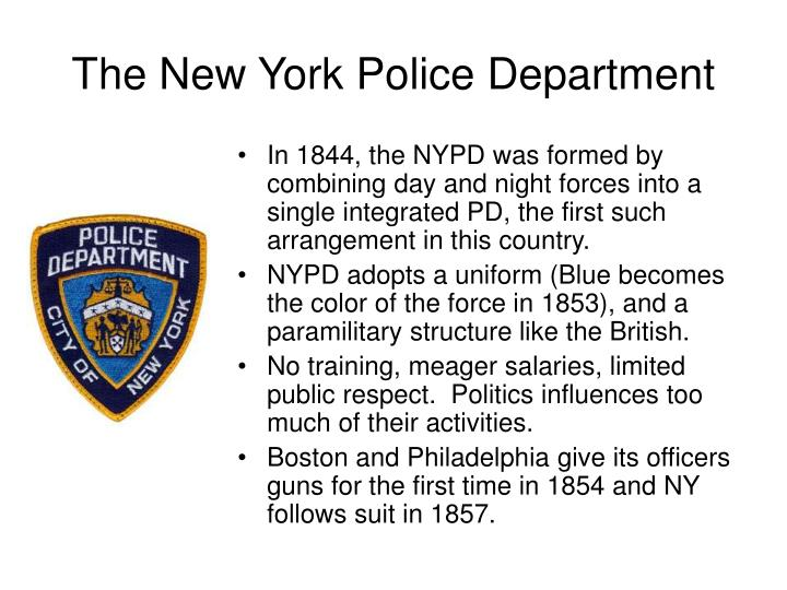 The New York Police Department