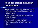 founder effect in human populations1