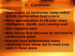 c carnivores