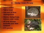 c order insectivora