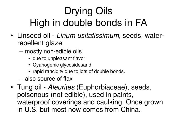 Drying Oils
