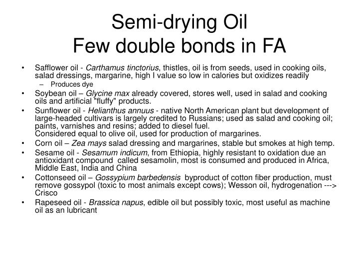 Semi-drying Oil