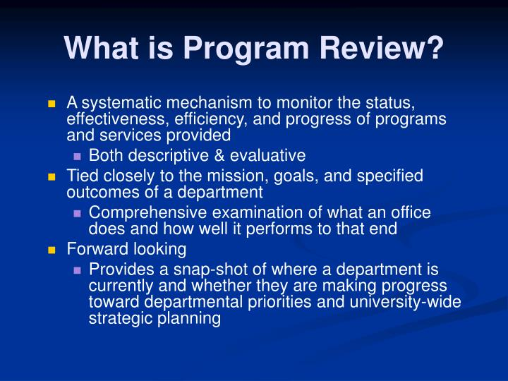 What is program review